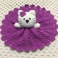 Baby Comforter: READY TO POST, Cat Security Blanket and Rattle,  Baby Gift