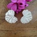 Recycled Silver Geranium Leaf stud earrings