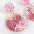 Glitter drop dangles - pink mix