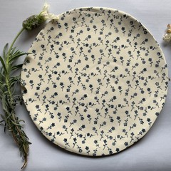 Sweet Small Blue Flowers Porcelain Plate