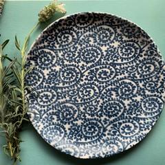 Beautiful Deep Blue Paisley Porcelain Plate