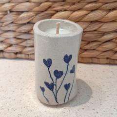 """""""Mini"""" Pottery Candle"""