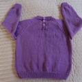 SIZE 5 -6 yrs - Hand knitted jumper  CuddleCorner, unisex