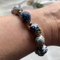 One Of A Kind Blue and White Beaded Porcelain bracelet