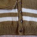 SIZE 5  -6 yrs Hand knitted cardigan  by CuddleCorner
