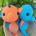 Amigurumi / Crochet Seahorse toy