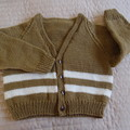 SIZE 5  -6 yrs Hand knitted cardigan  by CuddleCorner