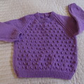 SIZE 5 -6 yrs - Hand knitted jumper  CuddleCorner, unisex