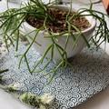 Handmade Funky Blue Circles Porcelain Platter