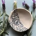 Cute Blue Paisley Porcelain Bowl