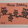 Greeting Card - 'Owls on a Branch'