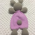 Baby Comforter: READY TO POST, Rabbit Rag Doll and Rattle,  Baby Gift