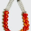Romantic Honey Necklace. Multi Coloured Faux Amber Necklace.