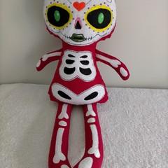 Halloween Skeleton Girl Doll
