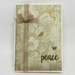 Inspirational Card - Peace - vintage tapestry