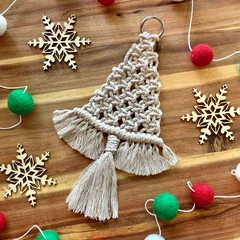 Medium macrame Christmas tree decoration