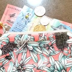 Banksia & bees coin purse