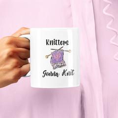 Knitters Gonna Knit Ceramic Personalised Coffee Tea Mug - CM056