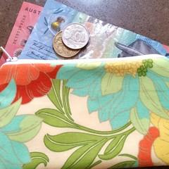 Lemon & Orange floral coin purse