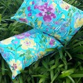 "FLORAL OUTDOOR LUMBAR CUSHION COVERS/40CM X 60CM/16"" X 20"""