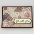 Get Well Card - Colourful Sea Shells on a Beach