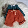 Unisex Rust & Jade green shorties babies /:toddlers