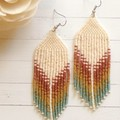 Mini dangles handmade beaded earrings