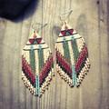 Handmade beaded drop earrings