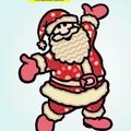 3D Mandala Christmas Santa. 210mm wide x 295mm tall.