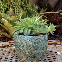 Copper Turquoise Planter