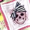Girls sugar skull tote