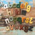 Felt alphabet, homeschool, learning