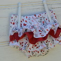 Ruffle bloomers /girls nappy covers/ 3 frilly layers