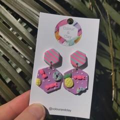 Sweet Treat Hexagon Dangles