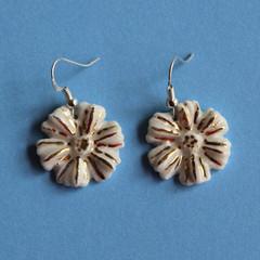 White Flower Power Earrings