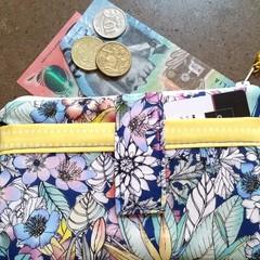 Blue Floral phone purse