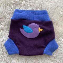 Medium Bird Wool Nappy Cover