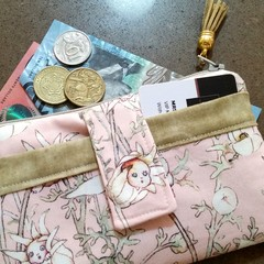Pink Flannel babies phone purse