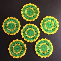 'My Team - Colours of Australia' Set of Six Coasters