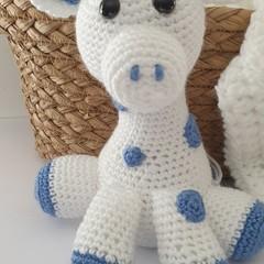 Blue and White Giraffe