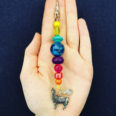 Beaded keyrings silver- click to see more