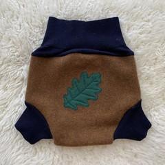 Large Oak Leaf Wool Nappy Cover