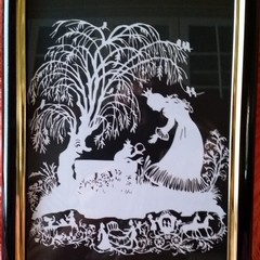 Princes and the Frog Prince Framed Papercut
