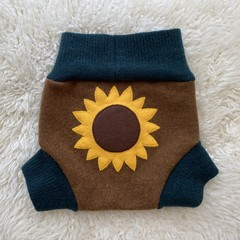 Large Sunflower Wool Nappy Cover