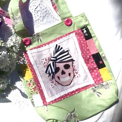 Girls sugar skull tote