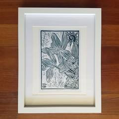'Orchid 3' - framed block print, artist signed and numbered.