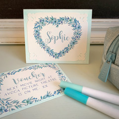 Stationery Set Aqua - Personalised
