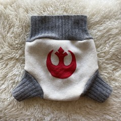 Large Star Wars Rebel Wool Nappy Cover