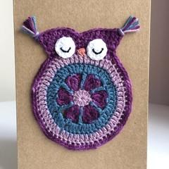 Crochet owl card
