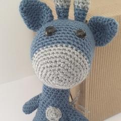 Crochet Blue and Grey Giraffe